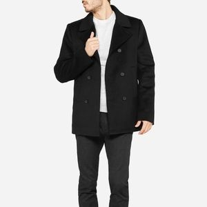 everlane modern quilted pea coat